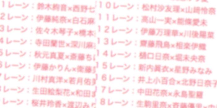 メンバー別レーン表